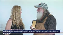 Frisco veteran reunited with twin brother's missing Purple Heart