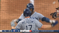 Rookie Walls sparks late surge as Rays beat Rangers 7-1