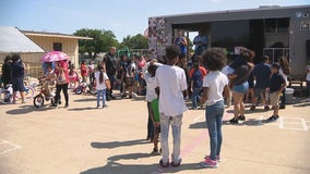 Fort Worth police team up with non-profit to give away hundreds of sneakers to kids in need