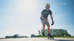 Former Dallas Stars player Stephen Johns rollerblading across U.S. to promote mental health
