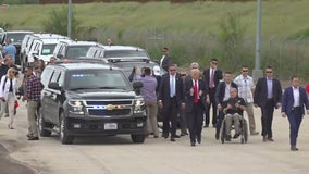Former President Trump tours southern border with Gov. Abbott to discuss border security