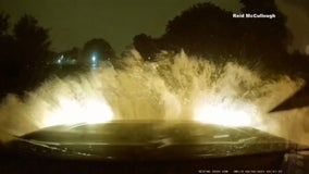 Plano teen relives terrifying moments after driving into high water