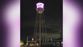Rainbow lights return on Rowlett's water tower amid Pride Month controversy