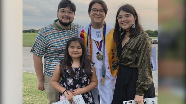 Dallas high school valedictorian becomes third sibling in his family to graduate top of class