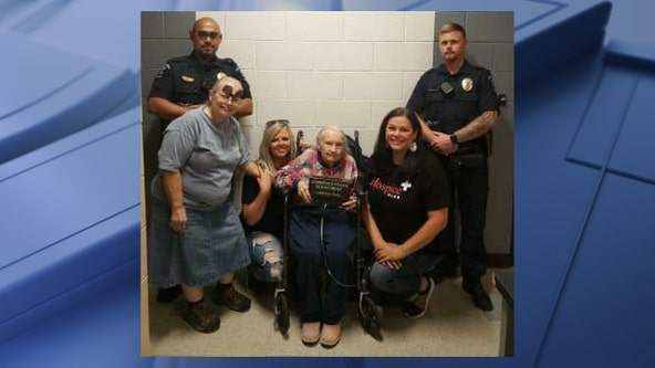 Police help check off 96-year-old North Texas hospice patient's bucket list wish of being arrested