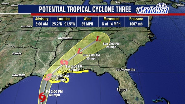Tropical system takes aim for northern Gulf coast heading into Father's Day weekend