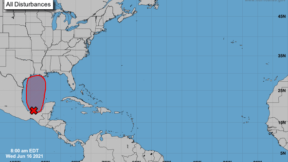 Disturbance in the Gulf has 90% formation chance