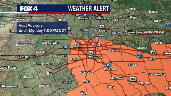 First heat advisory of 2021 issued for parts of North Texas
