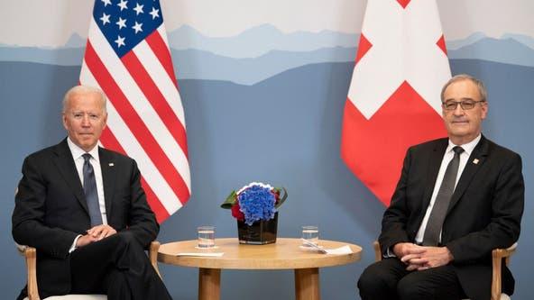 Biden arrives in Geneva for Putin meeting after bid to rally US allies
