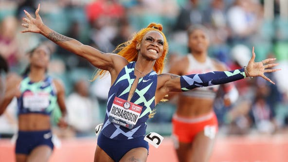 Dallas native Sha'Carri Richardson wins 100m at Olympic trials a week after biological mother's death