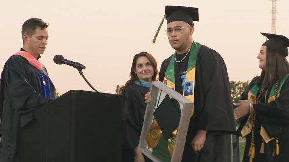 Family of Benbrook High School senior killed last month receives his diploma posthumously