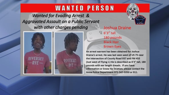 Man wanted for punching Anna police officer, evading arrest