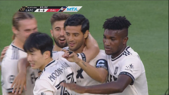 Vela scores first goal of season, LAFC beats FC Dallas 2-0