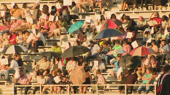Dallas-Fort Worth area high school graduations delayed by hot weather