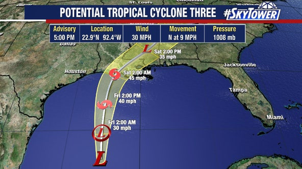 Warnings issued as Tropical Storm Claudette expected to form in Gulf