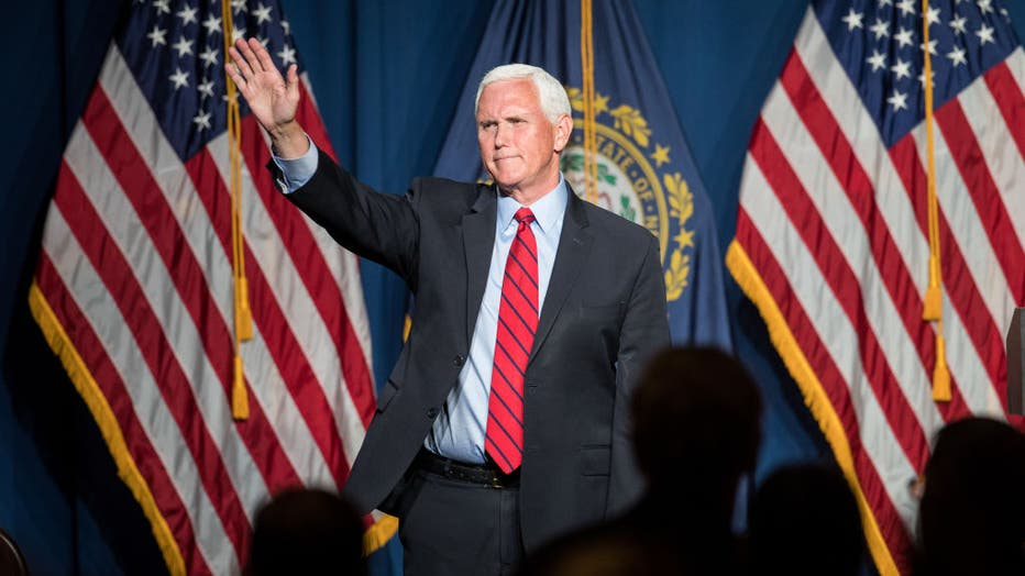 Mike Pence Addresses GOP Lincoln-Reagan Dinner In New Hampshire