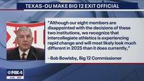 Texas, OU make Big 12 exit official