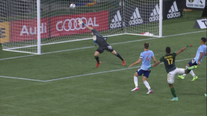 Jeremy Ebobbise scores in Timbers' 1-0 win over FC Dallas
