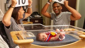 Kansas City nurses crochet mini Olympic outfits for newborns