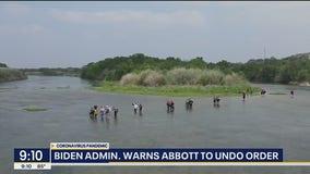 Biden administration warns Abbott to undo order