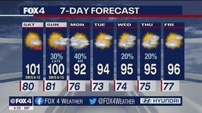 July 30 evening forecast
