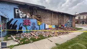 George Floyd mural in Toledo collapses, cause disputed