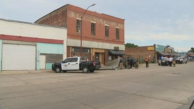 Roof torn off building at Fort Worth Stockyards during Monday storm