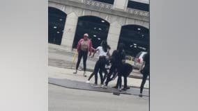 Brawl at Detroit Shake Shack caught on camera as up to 12 girls fight