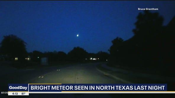 Meteor seen in North Texas sky on Sunday night