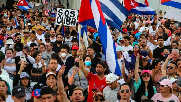 Biden calls Cuba protests 'remarkable' and 'a call for freedom'