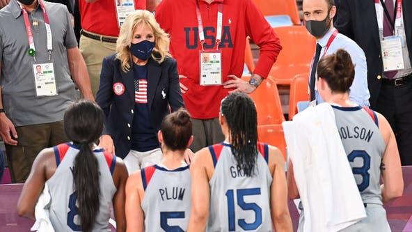 Jill Biden, Team USA cheer for each other at Tokyo Olympics