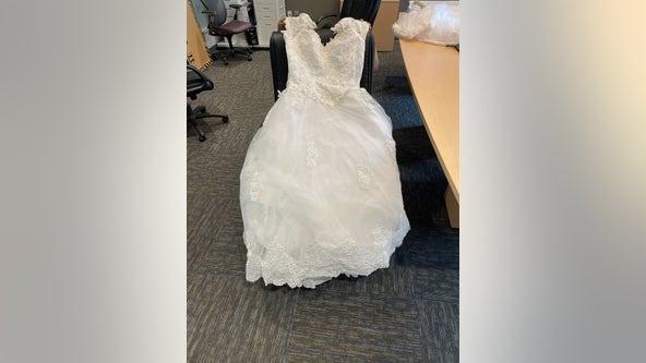 Wedding dress found on Dallas North Tollway in Frisco