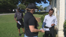 Volunteers block walk in Grand Prairie to promote COVID-19 vaccine