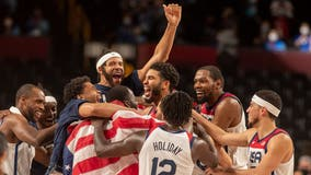 US men's basketball team beats France for 4th straight Olympic gold