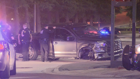 Hit-and-run suspect arrested after hitting vehicle, pedestrian, police horse in Dallas