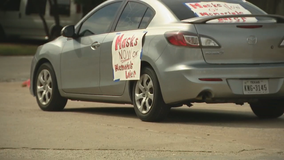 Fort Worth parents hold mock funeral procession in protest over district's lack of mask mandate
