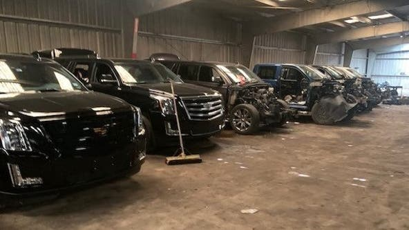Stolen vehicles recovered from suspected chop shop in Seagoville