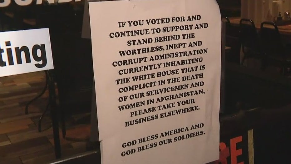 DeBary Diner anti-Biden sign