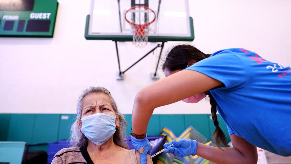 9ea0d951-Vaccine Clinic Opens In Southern California As New Covid Cases Surge