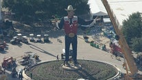 Maskless Big Tex returns to his spot at State Fair of Texas