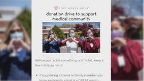 Fort Worth Moms helping hospital workers on frontlines of COVID-19 with donation drive