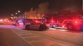 Dallas firefighter hurt while putting out warehouse fire