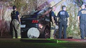 Mustang driver dies in fiery Dallas crash, passenger runs away, witnesses say