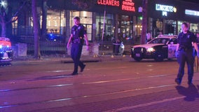 Man hit by stray bullet during Uptown Dallas shooting