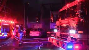 Dallas apartment building burns in intense overnight fire