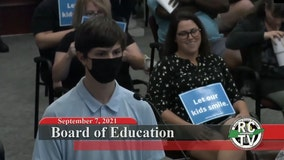 Anti-mask adults heckle student discussing grandmother's COVID-19 death