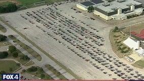 Hundreds line up at Fort Worth mega-mobile market for food assistance