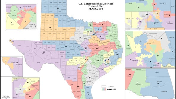 Texas reduces Black, Hispanic majority congressional districts in proposed redistricting map