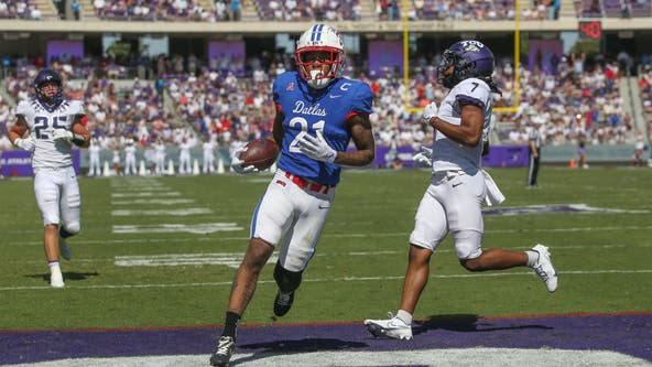 SMU tops TCU 42-34 to win Iron Skillet in 100th meeting of Dallas-area rivals