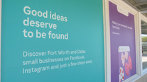 Facebook testing window display feature highlighting Fort Worth small businesses